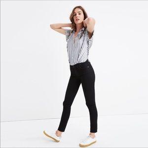 "Madewell 8"" Skinny Black Denim Jeans"